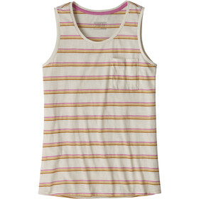 Patagonia Mainstay Top sin Mangas Mujer, pacific stripe/marble pink